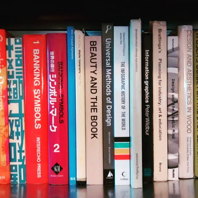 Going down the bookcase, as the books get bigger the content shifts from futures & fiction to art & design.