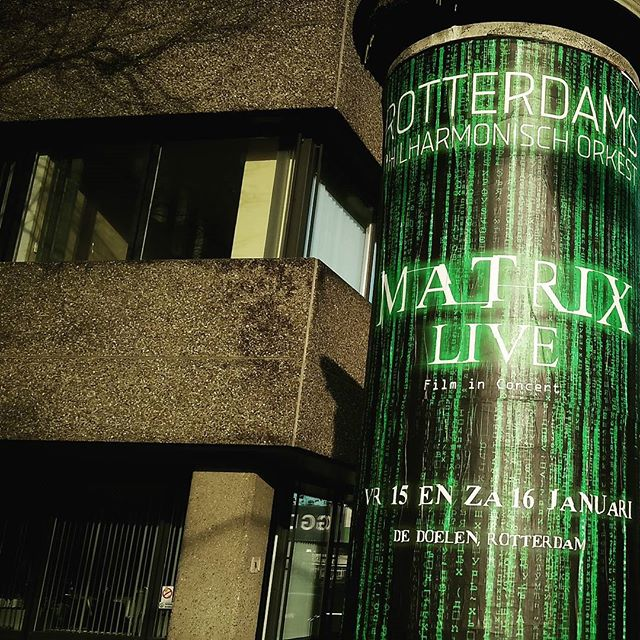 Posse up nerds! Rotterdam Philharmonic Orchestra is scoring The Matrix live. It's been 16 years, time to watch this thing again.