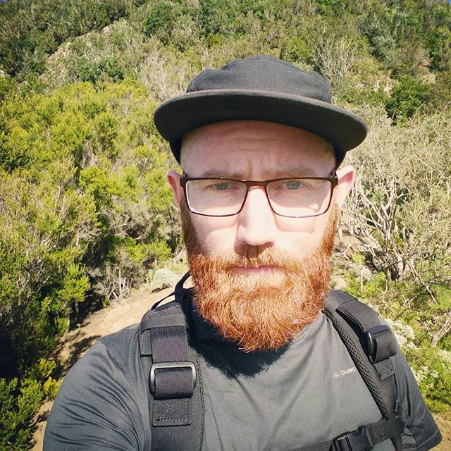 We have a gammy knee that gets passed down through the males in my father's family. At about 3/4 down today's hike, for the first time ever, the annoyance level from that knee went from 'lol cut it out stupid gammy knee' to 'SHITLORD STIRFRY CHRIST FUCKBUCKET' on every significant downstep. This is a problem when descending a mountain path that consists of volcanic rock, chossy slate, and muddy patches. Fortunately I carry the trusty little walking first aid bag. Rested, dumped in some ibuprofen, taped up the knee, and took 2 hours instead of 1 to get down the last section. It's 2016, apparently I am old. Tomorrow has been declared a rest day. The End.